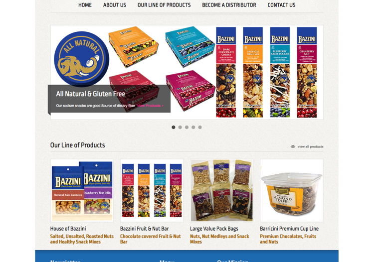 Website for Metro Snacks