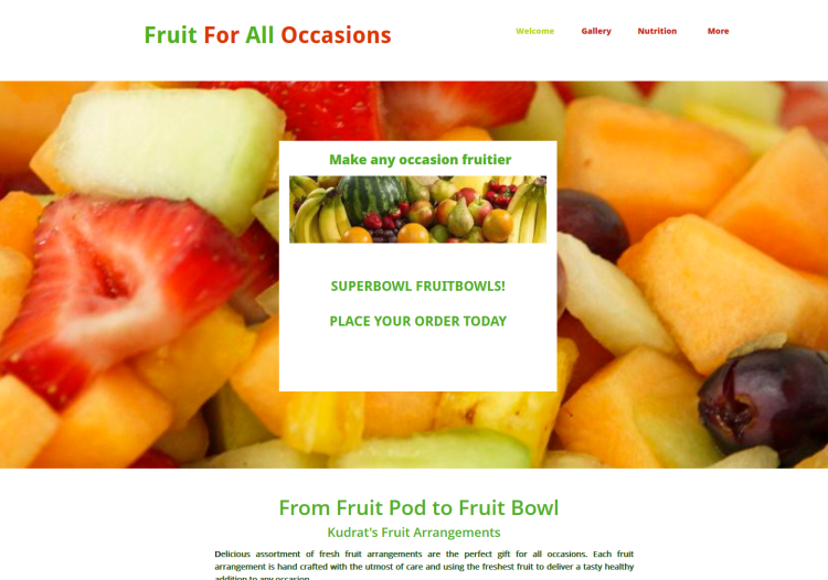 Website for Fruit Vendor