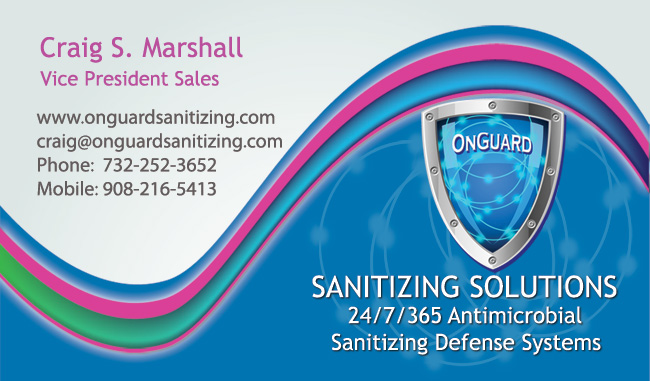 Graphics Design for OnGuard Sanitizing